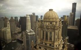 Картинка city, высота, небоскребы, USA, америка, чикаго, Chicago
