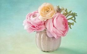 Картинка Ваза, Лютик, Цветы, фото