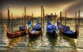 Картинка море, небо, вода, пейзаж, природа, лодки, Italy
