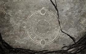 Картинка трещины, серый, фон, узор, камень, арт, письмена