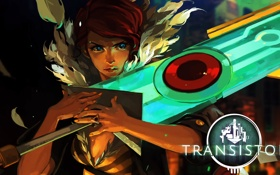 Картинка меч, Red, Transistor, Supergiant Games
