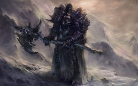 Картинка WoW, World of Warcraft, Death Knight, Orc, орк, рыцарь смерти