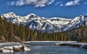 Картинка пейзаж, горы, озеро, Alberta, Canada, Banff