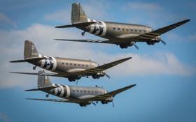 Обои самолёты, военно-транспортные, Douglas C-47, Skytrain, «Дакота»