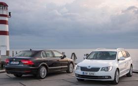 Обои cars, Škoda, шкода, небо, авто, Superb