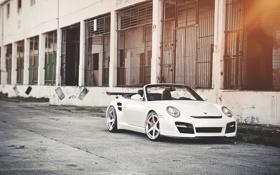 Обои кабриолет, cars, auto, Porsche 911, White, wallpapers auto, обои авто