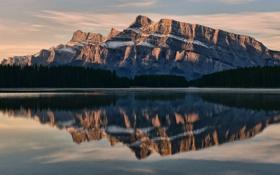 Картинка озеро, отражение, гора, Канада, Бнаф