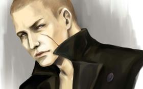 Обои арт, мужчина, шрам, Jake Muller, resident evil 6, Джейк Мюллер