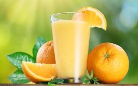 Обои апельсины, мята, orange, orange juice, апельсиновый сок, mint