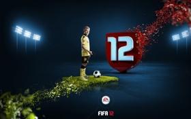 Обои FIFA 12, джостик, футболист, трава, Спорт, Sport, ball