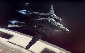 Обои космос, полет, скорость, космический корабль