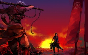 Картинка война, бой, самураи, sengoku basara