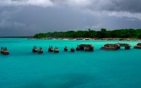 Картинка вода, остров, рай, лазурь, карибы, доминикана, саона