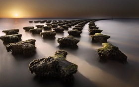 Картинка Felixstowe, sea, beach, grads, defences, stacked, erosion