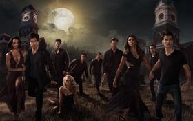Картинка Nina Dobrev, The Vampire Diaries, Elena, Ian Somerhalder, Damon, Paul Wesley, Michael Trevino