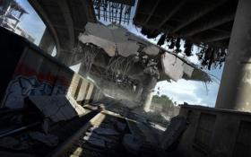 Картинка мост, город, поезд, конец света, MotorStorm Apocalypse