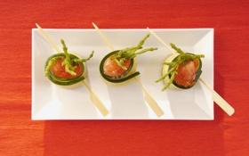 Обои еда, рыба, тарелка, plate, икра, food, 1920x1200