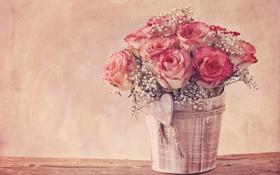 Картинка розы, vintage, flower, style, винтаж, bouquet, roses