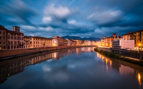 Картинка Italy, architecture, Pisa, building, Toscana, waterfront