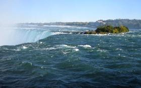 Картинка небо, река, водопад, Ниагара