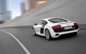 Обои Audi, Дорога, Белый, Машина, V10, В движении