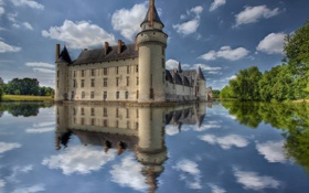 Обои water, Castle, reflection, Lake