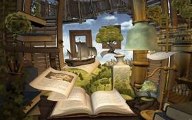 Обои книга, страница, мир, книжный