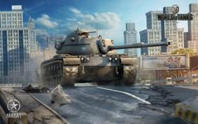 Обои город, война, танк, war, world of tanks