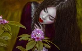 Обои девушка, фантазия, цвет, макияж, арт, Agnieszka Lorek, Lillian Liu