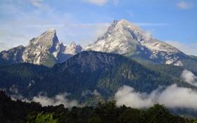 Обои пейзаж, природа, скалы, высота, гора, Германия, Бавария