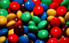Обои конфеты, драже, глазурь
