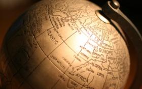 Обои мир, карта, глобус