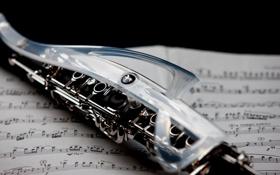 Картинка Музыка, Ноты, Clarinet, Кларнет