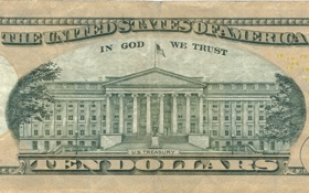 Обои Dollar, america, united states, states, god, united, ten