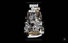 Картинка rockstar, GTA 3, 10 year anniversary