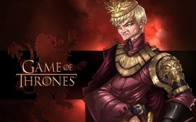 Обои сериал, Game of Thrones, Joffrey Baratheon, hbo, Jack Gleeson, Joffrey, джоффри