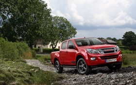Обои пикап, Double Cab, Isuzu, Fury, 2015, исузу, D-Max