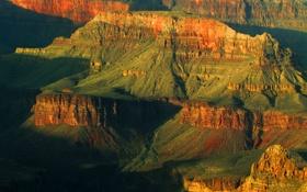 Картинка закат, горы, скалы, каньон, Аризона, США, Grand Canyon National Park