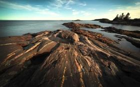 Обои камни, небо, картинки 1920x1200, вода, берег, фото, природа