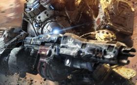 Картинка металл, оружие, робот, Titanfall