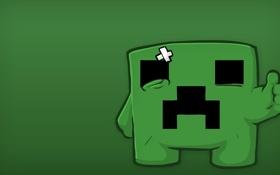 Обои Игра, Зеленый, 1920x1080, Minecraft, Крипер, Обоя, Майнкрафт