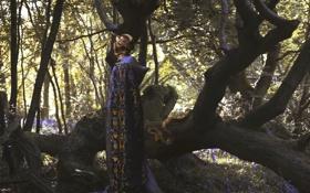 Обои змеи, девушка, Oliver Charles, mythology series