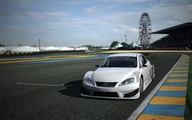 Обои белый, обои, гонка, lexus, track, gt5
