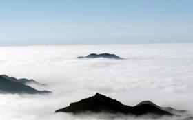 Картинка тучи, Горы, вершины гор, над облоками