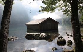 Обои вода, деревья, фото, берег, пейзажи, дома