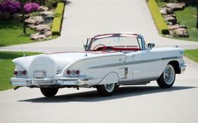 Картинка Chevrolet, Шевроле, вид сзади, Bel Air, Impala, Convertible, 1958