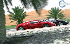 Картинка пальмы, фон, McLaren, Bugatti, Top Gear, Veyron, пески