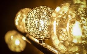 Обои макро, свет, лампы, лампа
