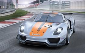 Обои Porsche, уперкар, car, порше, 918, speed, track