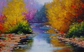 Обои рисунок, арт, artsaus, fall colors